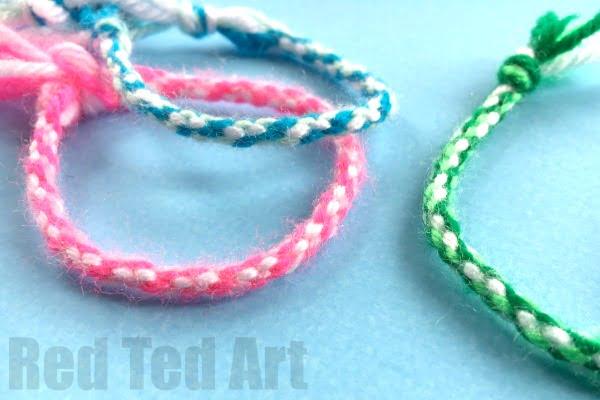Pretty Friendship bracelets for kids