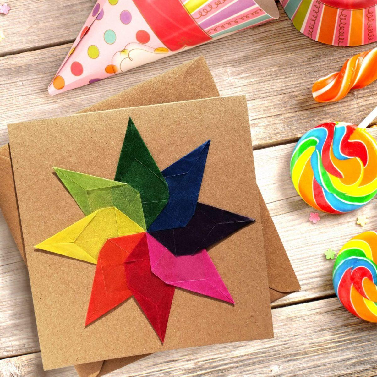Cosmic Candy Rainbow Card