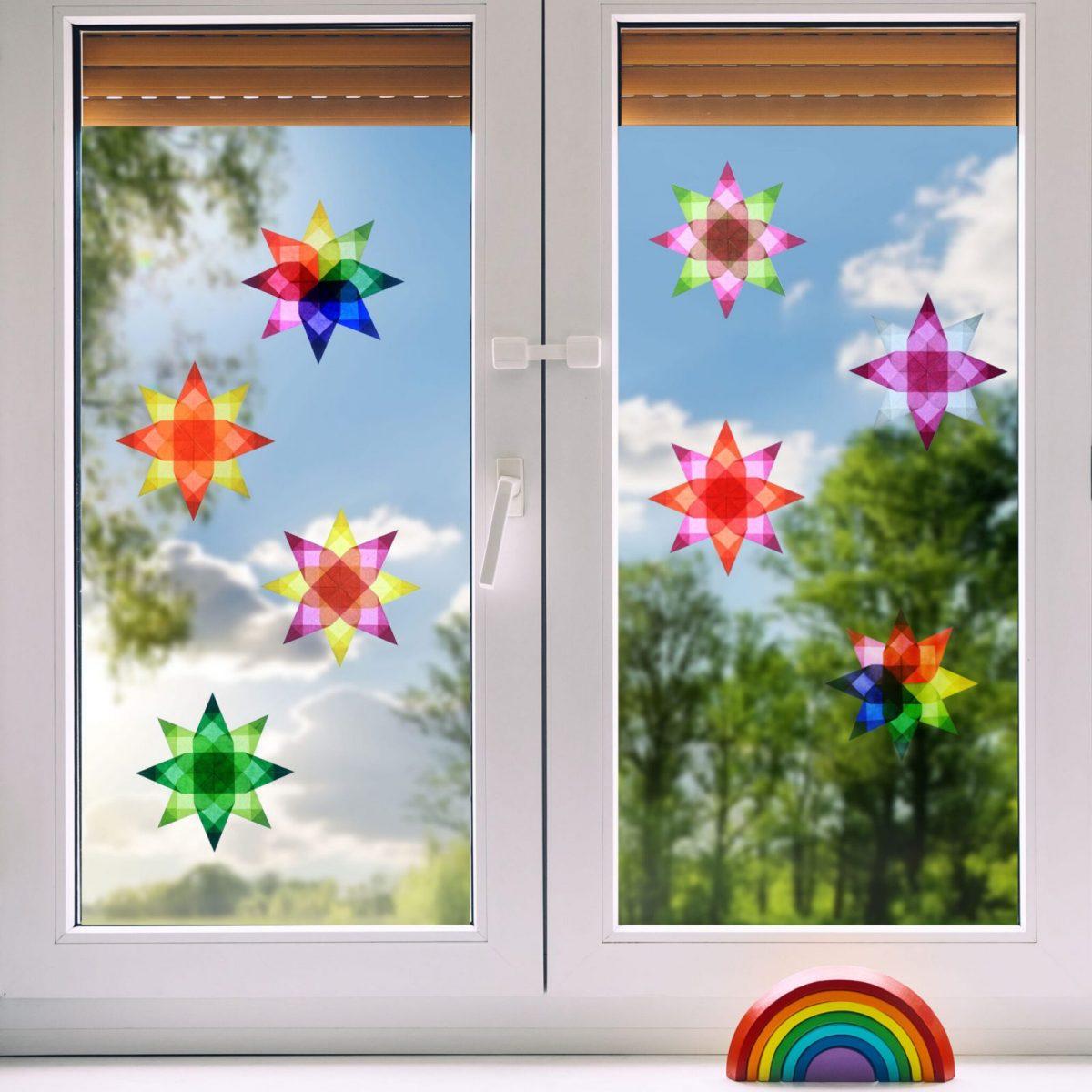 Cosmic Candy stars on Window