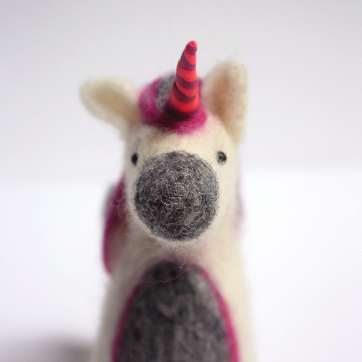 Pink Needle Felted Unicorn- nbspThe Crafty Me