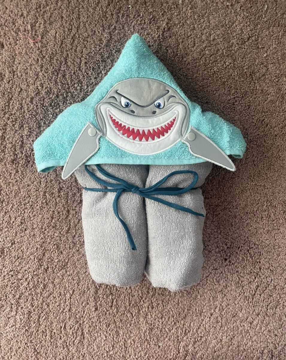 Shark hooded towel- nbspThe Crafty Me